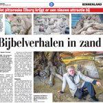 Artikel De Telegraaf Bijbelverhalen in zand